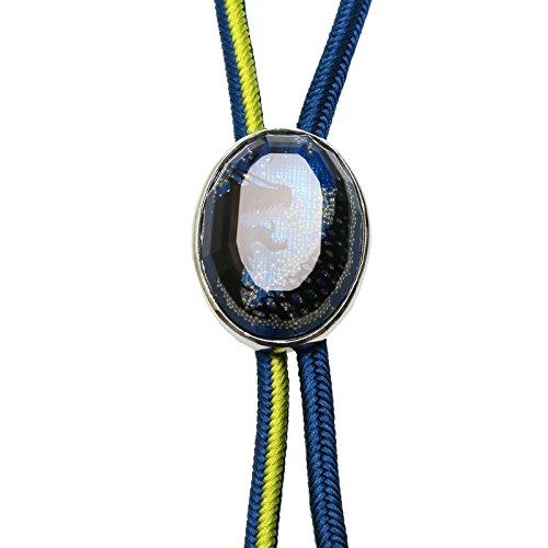 Tamarusan Silk Braid Bolo Tie Dragon Blue Handmade Green ()