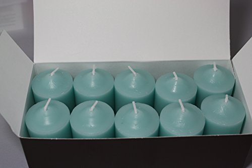 Enlightened Ambience Blue Water Scented Blue Votive Candles 10 Pack