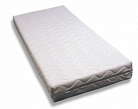 BIOECOSHOP colchón de látex 100% Puro de Origine Natural 7 Zonas con Tela Crudo