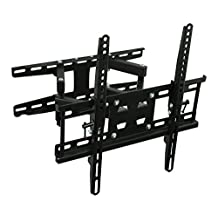 "Mount-It! MI-4461 Full-Motion Tilting Articulating, Dual Arm TV Wall Mount Bracket with Extendable Arms (13.5 inches) that Swivels LED LCD Plasma and Flat Screen TV's from 20"" to 50 inches with the VESA Compatibility up to 400x400mm"