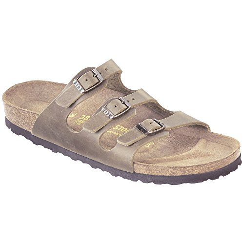 Birkenstock Women's Florida Soft Footbed Sandal Tobacco Oiled Leather Size 37 M EU ()