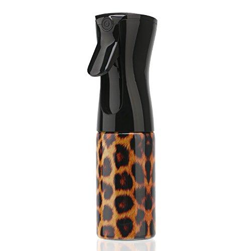Segbeauty Hair Spray Bottle, 160ML Refillable Mister Ultra Fine Mist Sprayer, Airless Aerosol Trigger Water Spray Bottle for Hairdressing, Skin Care, Watering Plants, Showering Pets- Leopard Grai