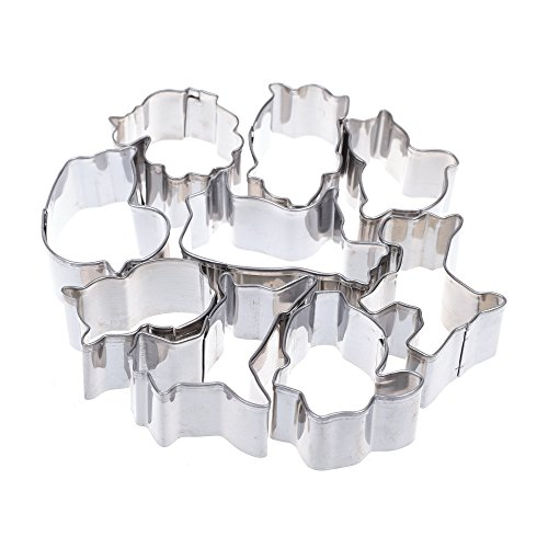 COSMOS Set of 9 Mini Animal Cookie Cutters Molds