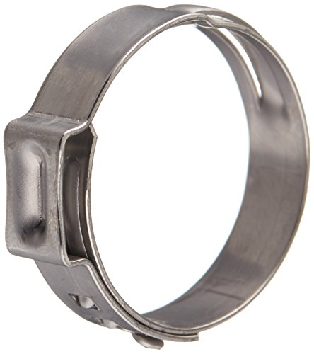 Oetiker 16700029 Stepless Ear Clamp, One Ear, 7 mm Band Width, Clamp ID Range 20.9 mm (Closed) - 24.1 mm (Open) (Pack of 25)