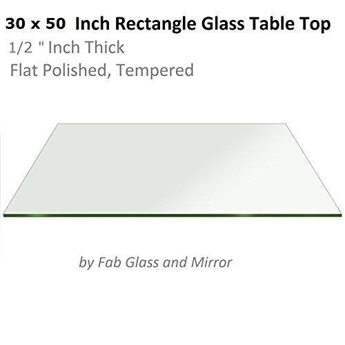 Radius Edge Top - Fab Glass and Mirror 1/2