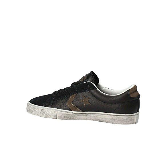 Scarpe da Unisex Distressed Black Ginnastica Vulc Chocolate 001 Chip Bambini Lifestyle Leather – Basse Nero PRO Converse Ox C0YqI