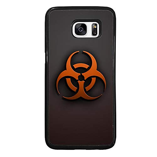 Skinsends Cool Biological Hazards Phone Cover Compatible with Galaxy S7 Edge, Biohazards Previous Cases Compatible with Samsung Galaxy S7 Edge