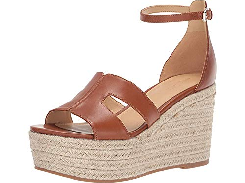 Nine West Women's Adelyn Espadrille Wedge Tan Chestnut 6.5 M US ()