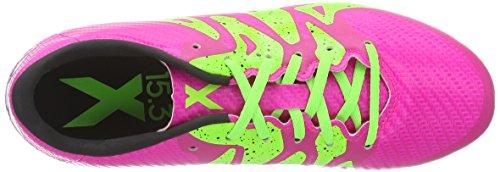 adidas X 15.3 FG/AG, Botas de Fútbol Niños Rosa (Shock Pink S16/Solar Green/Core BlackShock Pink S16/Solar Green/Core Black)