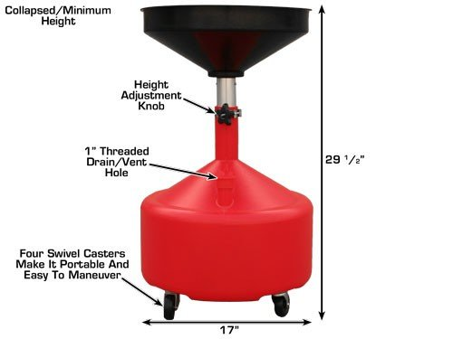 Dynamo DYOHTA30L Portable Plastic Oil Drain with Adjustable Funnel Height (8 Gallon) by Dynamo (Image #2)