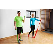 Sivan Health And Fitness Exercise Resistance Bands And Door Anchor (Set of 3)