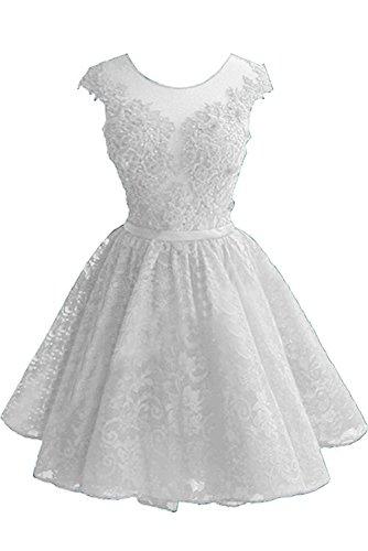 Mini Neu Cocktailkleider La Marie Festlichkleider Spitze Tanzenkleider Damen Braut Promkleider Weiß Abendkleider wxUIqvU4n
