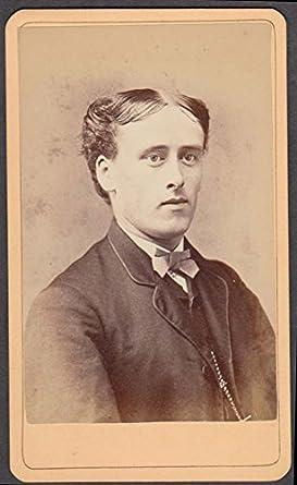 Flat Headed Man Center Part Hair CDV By D T Burrell N Bridgewater MA 1880s