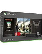 Xbox One X 1TB, schwarz - The Division 2 Bundle