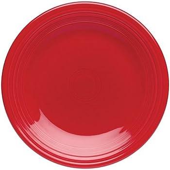 Fiesta 10-1/2-Inch Dinner Plates, Set of 4, Scarlet