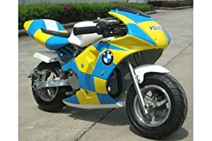 mini moto police colours