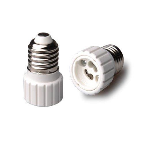 GU10 Bayonet Male to E27 Edison Socket-Converter 60W LED Light Bulb Adapter
