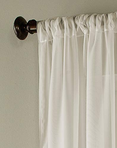 Curtainworks Soho Voile Sheer Curtain Panel, 59 by 84