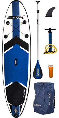 2017 STX 9'8'' x 30'' Freeride Inflatable Stand Up Paddle Board, Paddle, Pump & Bag by STX (Image #1)'