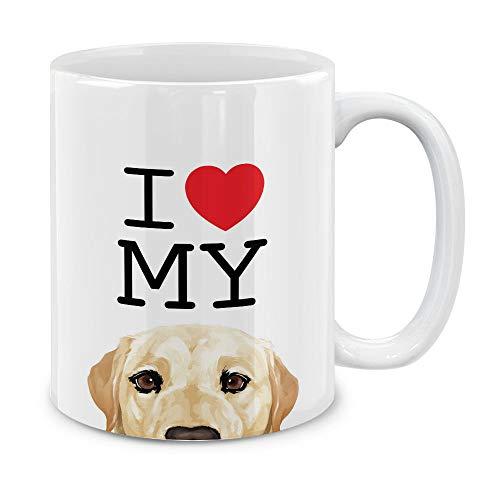 MUGBREW I Love My Cream Labrador Retriever Dog Ceramic Coffee Gift Mug Tea Cup, 11 OZ