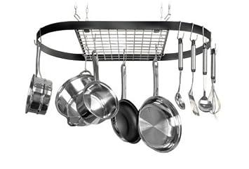 Kinetic Classicor Series Wrought Iron Oval Pot Rack 12021