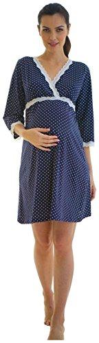 (Belabumbum Dottie Kimono Dress - Navy Dot-Small)