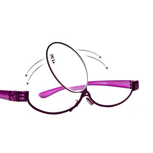 Adjustable lens cosmetic use of eyeglasses eyeglasses makeup reading glasses enlarged folding makeup reading glasses women (2.5, - Eyeglasses Try On