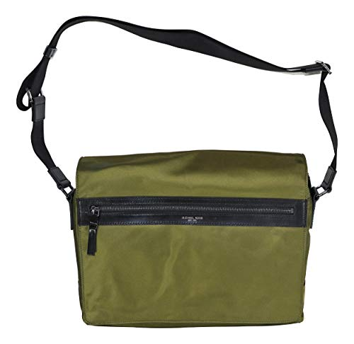 Michael Kors Nylon Unisex Kent Messenger Shoulder Bag (Military)