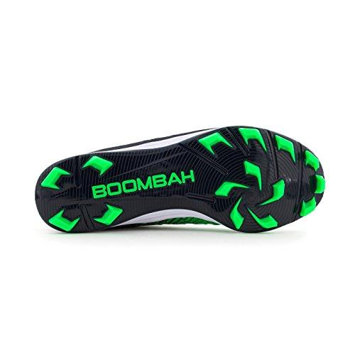 Boombah Menns Skvadron Støpte Cleats - 8 Fargealternativer - Flere Størrelser Navy / Limegrønn