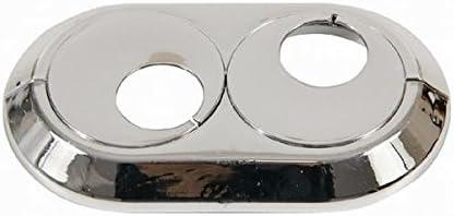 Collar doble cubierta de los tubos del radiador cromada pvc 18 mm Doble subió giratorio