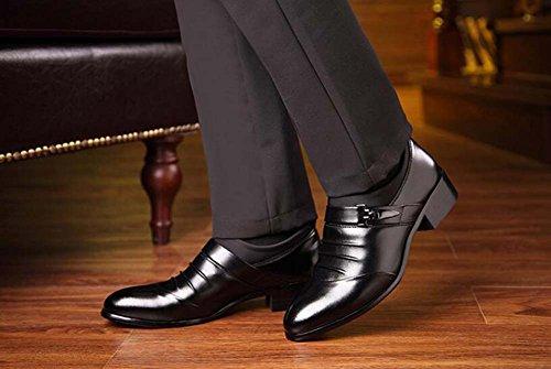 MYI Británicos los Casuales Coreana de Salvajes los Versión de Puntiagudos Zapatos Zapatos Aumento de Hombres Zapatos Negocios del Zapatos Black Casuales rE6ryq