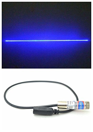 450nm 1000mw 1W High Power Pure Blue Line Laser Module 110° w/12×45mm + Holder + Adapter (Laser Green 1000mw Pointer)