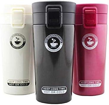 ABAOWBAcero Inoxidable 304 350ml Taza de café de Viaje Thermocup Termo Vasos Vaso Frasco de vacío Botella de Agua Termo