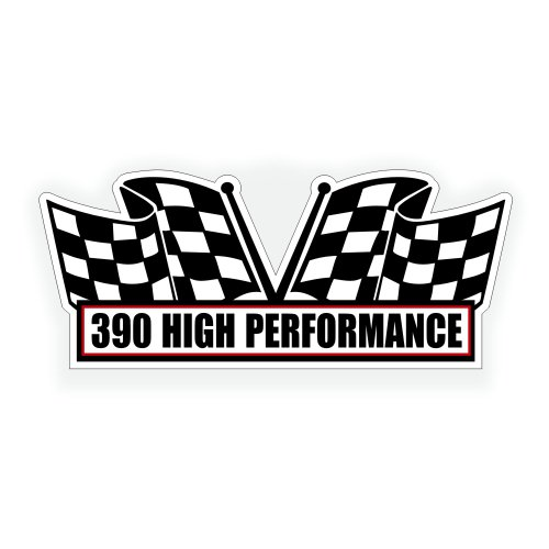 [Air Cleaner Engine Decal - 390 High Performance For American Motors And Ford Muscle Car - 5x2.25 inch] (American Motors Muscle Cars)