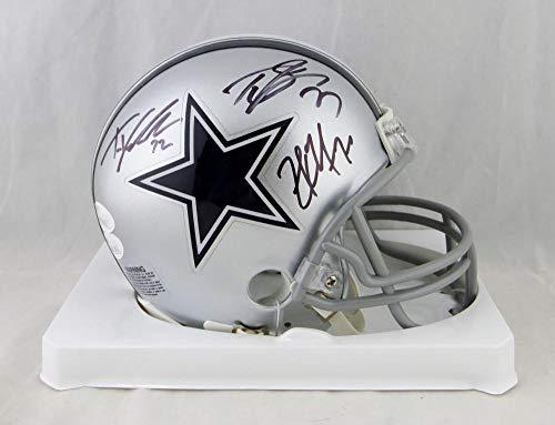 Martin, Smith, Frederick Autographed Dallas Cowboys Mini Helmet- JSA W Auth
