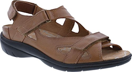 Drew Casual Open Toe Shoe Ankle Lagoon Sandals Womens Cognac Strap aCqXawr