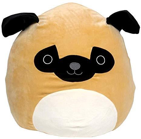 Squishmallow Kellytoy 12'' Prince The Pug Super Soft Plush Toy Pillow Pet Animal Pillow Pal Buddy Stuffed Animal Birthday Gift Holiday