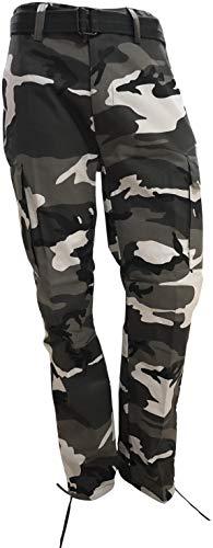 Regal Wear Mens Legendary Army Cargo Pants with Belt, Camo Old City, Length 32 / Waist 34