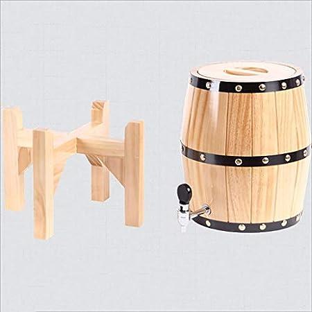 Toneles para Vino, Barril Vertical del Vino del Roble, Color Decorativo de Madera de Alto Grado de Madera de Barril de la Cerveza del envase del Barril (Color : 7L)