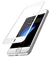 TOZO for iPhone 7 3D Screen Protector Glass [ 3D Full Frame ] Technology Premium Tempered 9H Hardness 2.5D PET [Soft Edge Hybrid] Perfect Fit Screen 4.7 White from TOZO