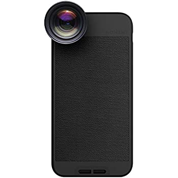 iPhone 8 / iPhone 7 Case with Telephoto Lens Kit || Moment Black Canvas Photo Case plus Tele Lens || Best iphone zoom attachment lens with thin protective case.