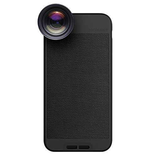 iPhone 6 Case with Telephoto Lens Kit || Moment Black Photo Case plus Tele Lens || Best iphone zoom attachment lens with thin protective case. by Moment
