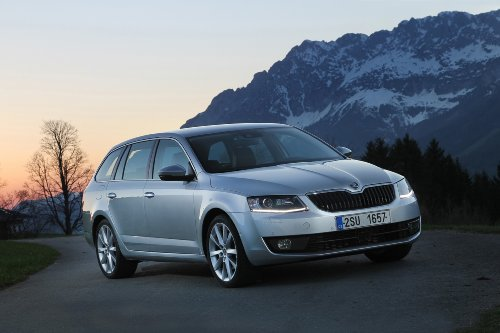 Skoda Octavia Wagon 4x4 Car Art Poster Print on 10 mil Archi