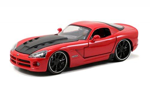 Jada Bigtime Muscle 2008 Dodge Viper SRT10 1:24 Scale (Red)