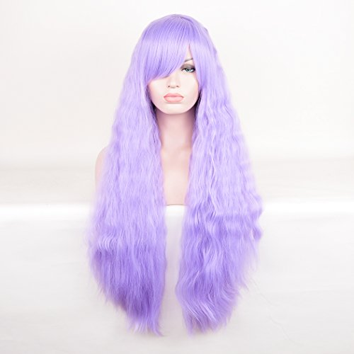 Homemade Drag Queen Costumes (SiYi Long Deep Curly Wavy Wig Afro Kinky Curly Synthetic Heat Resistant Hair Wigs Full Lolita Purple Costume Wigs for Women Girls)