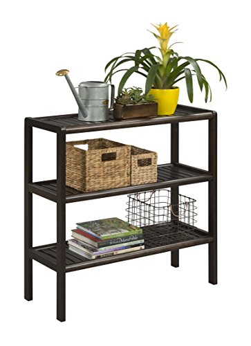 New Ridge Home Goods Abingdon Solid Birch Wood 3 Shelf Console, Large, Espresso by New Ridge Home Goods (Image #1)