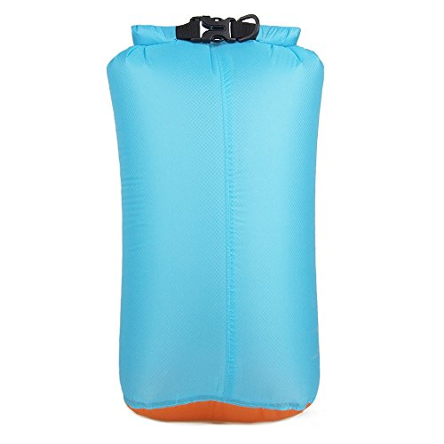 Top Bag Light (Ultrasil Waterproof Lightweight Portable Dry Sack - Roll-Up Top Closer Compression bag for swimming, fishing and watersports (6L, 15L, 20L) (blue, S - 6L))
