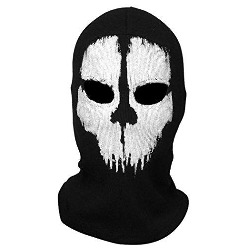 [Coofit Ghost Skull Balaclavas Skiing Airsoft Paintball Game Cosplay Mask 01] (Halloween Skeleton Mask)
