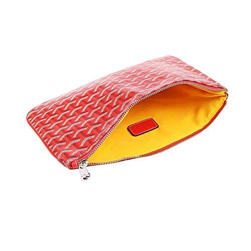 Stylesty Designer Clutch Purses for Women, Pu Envelope Fashion Clutch Bag, Women Handbag (Medium, Red) by Stylesty (Image #1)