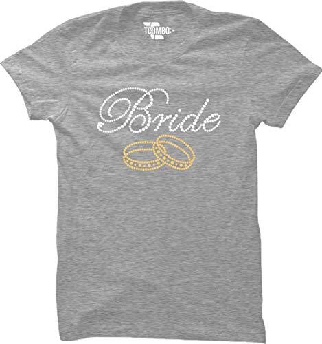 Bride Rhinestone Women's T-Shirt (Light Gray, XX-Large)